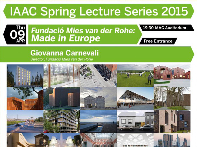 IAAC Spring Lecture Series 2015 - Giovanna Carnevali