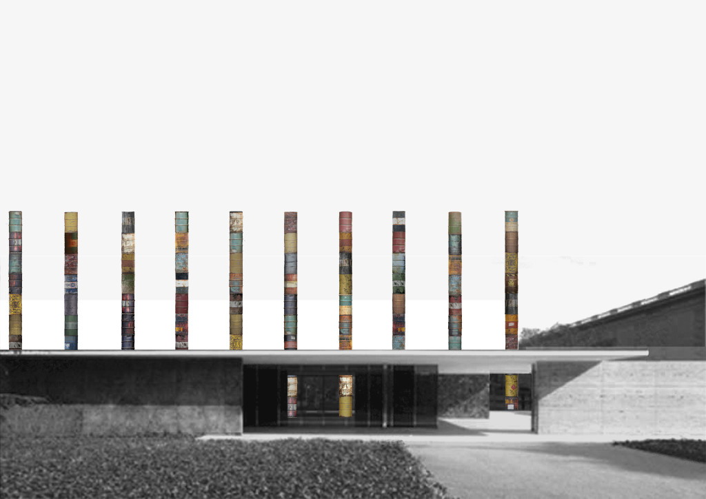 Barcelona pavilion interior - Competition Fear Of Columns Fundaci 243 Mies Van Der Rohe